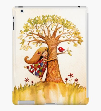 tree hugs iPad Case/Skin