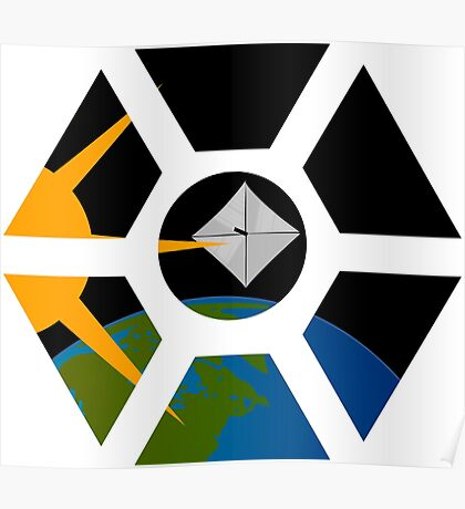 Lightsail seen through ISS cupola Poster