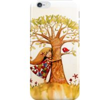 tree hugs iPhone Case/Skin