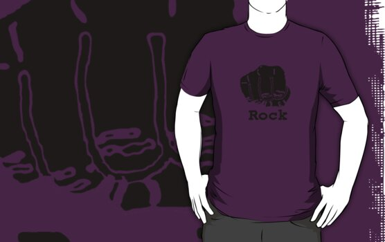 Rock Paper Scissors T-shirt (ROCK) by J. William Grantham