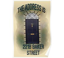 The Address is... 221b Baker Street Poster