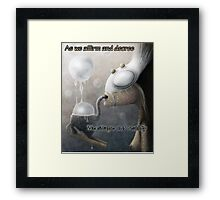 Shaping Reality Framed Print