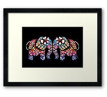 Tattoo Babies elephants Framed Print