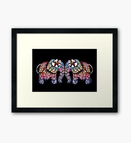 Tattoo Babies elephants Framed Print