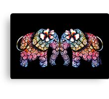 Tattoo Babies elephants Canvas Print