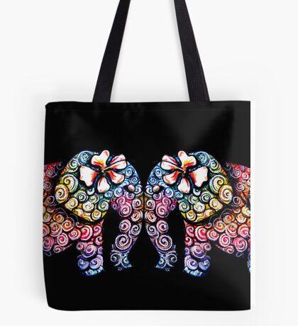 Tattoo Babies elephants Tote Bag