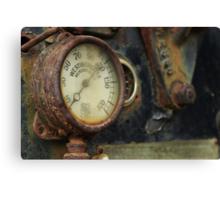 Steam Roller Detail - Perris CA Canvas Print