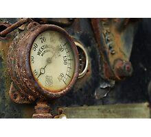 Steam Roller Detail - Perris CA Photographic Print