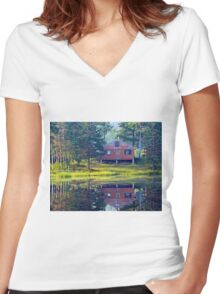 High-country Morning Women's Fitted V-Neck T-Shirt
