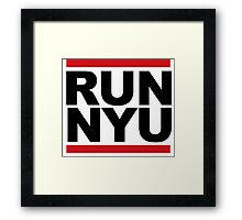 RUN NYU Framed Print