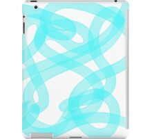 White and Blue Pattern iPad Case/Skin