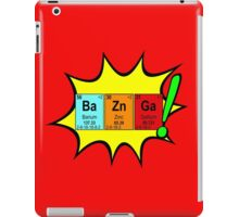 Bazinga! Humorous colorful chemistry geek design iPad Case/Skin