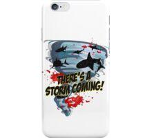 Shark Tornado - Shark Cult Movie - Shark Attack - Shark Tornado Horror Movie Parody - Storm's Coming! iPhone Case/Skin