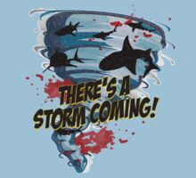 Shark Tornado - Shark Cult Movie - Shark Attack - Shark Tornado Horror Movie Parody - Storm's Coming! Kids Tee