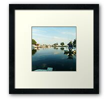 Lakefront Jersey paradise Framed Print