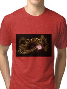 Abstract Fireworks Tri-blend T-Shirt