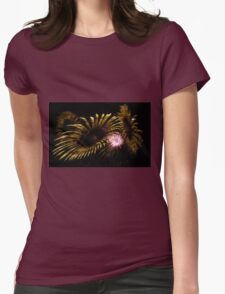Abstract Fireworks Womens Fitted T-Shirt