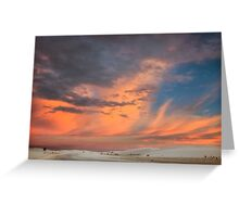 Pastels Brilliant White Sunset Greeting Card