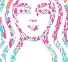 Starbucks Under Colorful Sea Sticker