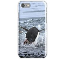 Adelie Penguins Antarctica Prepare for a Swim 2D iPhone Case/Skin