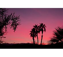 Vivid Desert Sunset Photographic Print