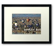 Balloons Over Lake Havasu Framed Print