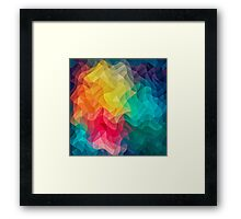 Abstract Color Wave Flash Framed Print