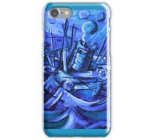 Boat Descending a Staircase - Acrylic on Canvas iPhone Case/Skin