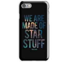 We Are Made of Star Stuff - Carl Sagan Quote iPhone Case/Skin
