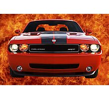 Flamin' Hot Challenger Photographic Print