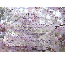 Psalm 139 You Precious One are Precious to your Heavenly Creator Almighty God Medium Poster Photographic Print
