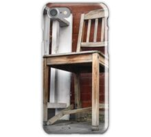 Old Wooden Chair on the Porch iPhone Case/Skin