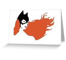 Batgirl Print Greeting Card
