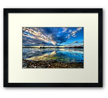 Willow Lake Reflect Blue-Second Look Framed Print