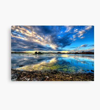 Willow Lake Reflect Blue-Second Look Canvas Print