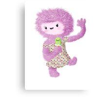 Summer Furry Lady Canvas Print