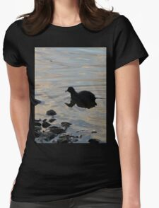 Floaty Bird Womens Fitted T-Shirt