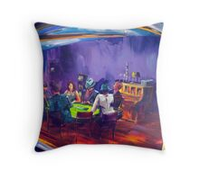 Marita's garage - Texas Holdem Throw Pillow