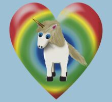 Magical Unicorn And Rainbow Heart Kids Clothes