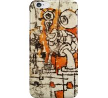The Thing- Monoprint on Paper iPhone Case/Skin