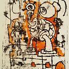 The Thing- Monoprint on Paper by Matt Bissett-Johnson