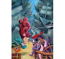 Mermaid and Pirates Photographic Print