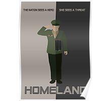 Homeland Minimalist poster Poster