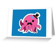 Dapper octopus Greeting Card