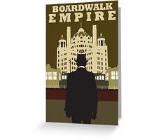 Boardwalk Empire Minimalist work Greeting Card