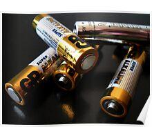 Batteries. Poster