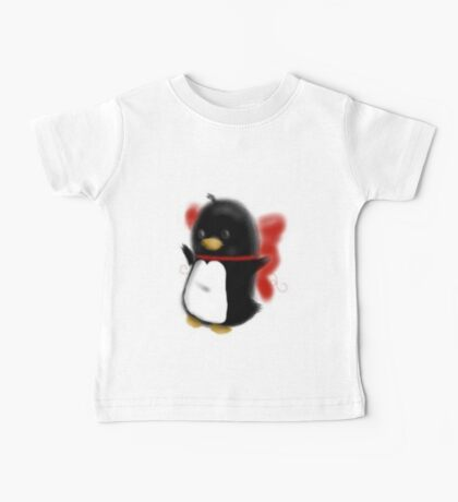 Bowed up Penguin party Baby Tee