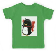 Bowed up Penguin party Kids Tee