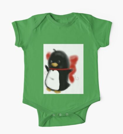 Bowed up Penguin party One Piece - Short Sleeve