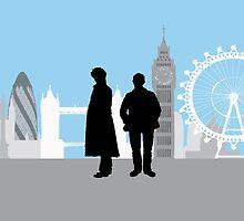 Minimalist Sherlock Work by cdemps